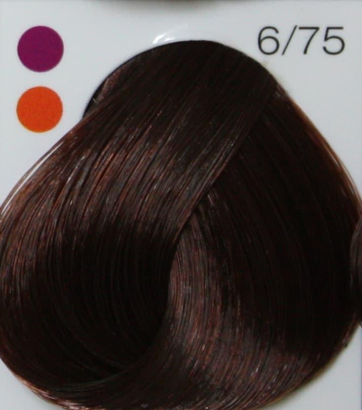 Купить Londa, Интенсивное тонирование Лонда краска тоник для волос (палитра 48 цветов), 60 мл LONDACOLOR интенсивное тонирование 6/75 тёмный блонд коричнево-красный, 60 мл
