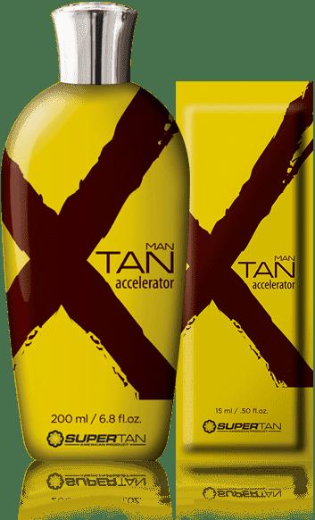 Бронзирующий ускоритель загара, созданный специально для мужчин X ТanПолучите максимальный результат во время сеанса загара применяв X-Tan Man Accelerator с богатой формулой ускорения загара. Будьте уверены, что Ваши знакомые спросят Вас о тайне так здоровой и прекрасной загорелей кожи X-Tan.&#13;<br> &#13;<br> &#13;<br>  ДГА Бронзатор&#13;<br> &#13;<br>  Accelerator Tan AccelTM&#13;<br> &#13;<br>  Экстракт зеленого чая&#13;<br> &#13;<br>  Кофеин&#13;<br> &#13;<br>  Экзотические масла Алоэ вера<br>