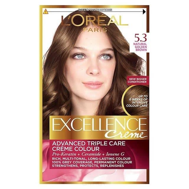 Купить L'Oreal, Краска для волос Excellence Creme (32 оттенка), 270 мл 5.3 светло-каштановый золотистый