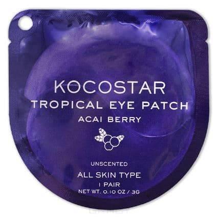 Купить Kocostar, Гидрогелевые патчи для глаз Тропические фрукты Ягоды асаи Tropical Eye Patch Acai Berry, 2 патча/1 пара, 3 гр