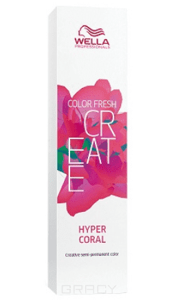 Фото - Wella, Оттеночная краска для ярких акцентов Color Fresh Create, 60 мл (13 оттенков) Гипер коралл HYPER CORAL оттеночная краска для ярких акцентов color fresh create 60 мл 13 оттенков
