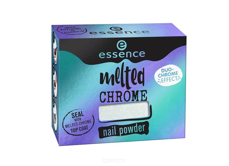 Купить Essence, Эффектная пудра для ногтей Melted Chrome, 1 гр (6 цветов) №02, бирюзовый