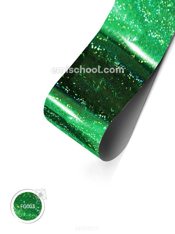 Купить E.Mi, Фольга Зеленая голографика №02 Мелкая точка 1, 5 м