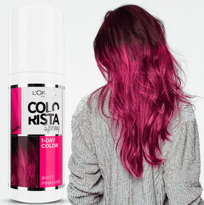Купить L'Oreal, Краска спрей в баллончиках на 1 день Colorista Spray 1-Day, 75 мл (7 оттенков) 1 фуксия
