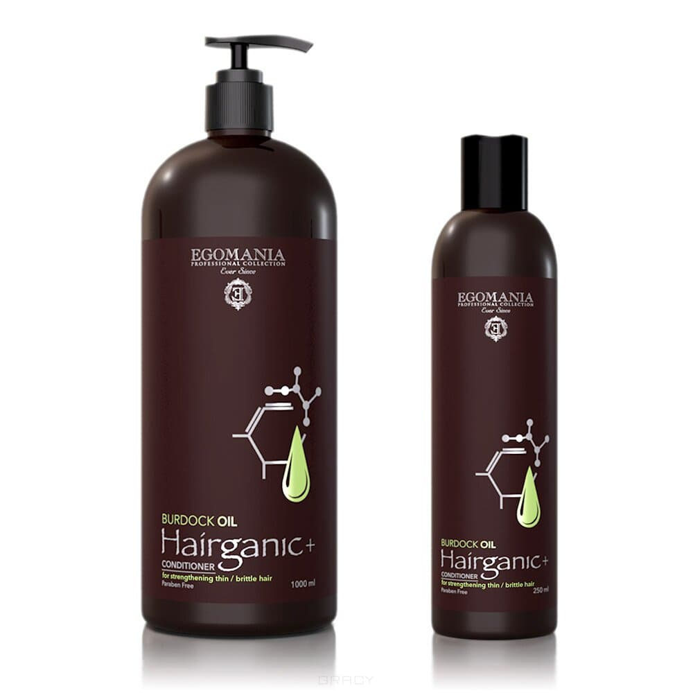 Купить Egomania, Кондиционер с маслом репейника для укрепления тонких, ломких волос CONDITIONER WITH BURDOCK OIL FOR STRENGTHENING THIN, BRITTLE HAIR, 250 мл