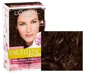 Купить L'Oreal, Краска для волос Excellence Creme (32 оттенка), 270 мл 4 Каштановый