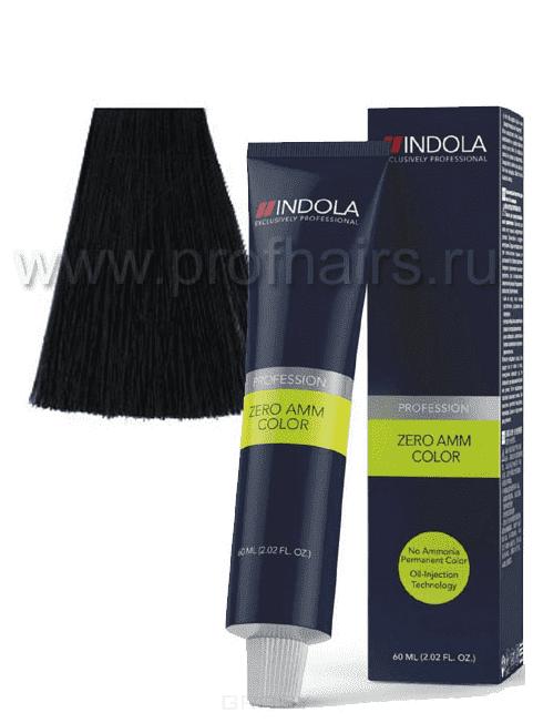 Indola, Zero Amm Стойкий краситель на масляной основе без аммиака, 60 мл (35 оттенков) 1-0 черныйОкрашивание<br><br>