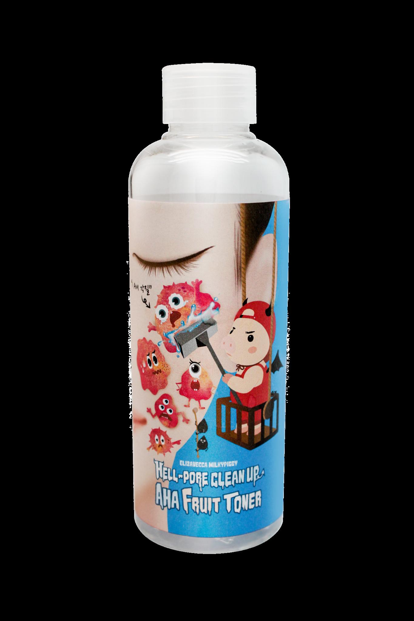 Купить Elizavecca, Тоник для лица с фруктовыми кислотами Hell-Pore Clean Up AHA Fruit Toner, 200 мл