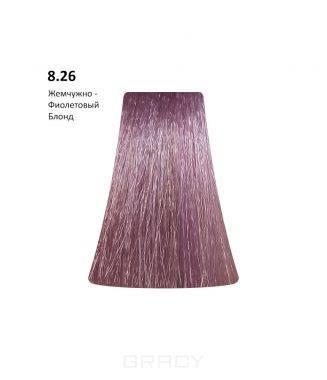 Купить BB One, Перманентная крем-краска Picasso Colour Range без аммиака (76 оттенков) 8.26Blond Pearl Violet/Жемчужно-Фиолетовый Блонд