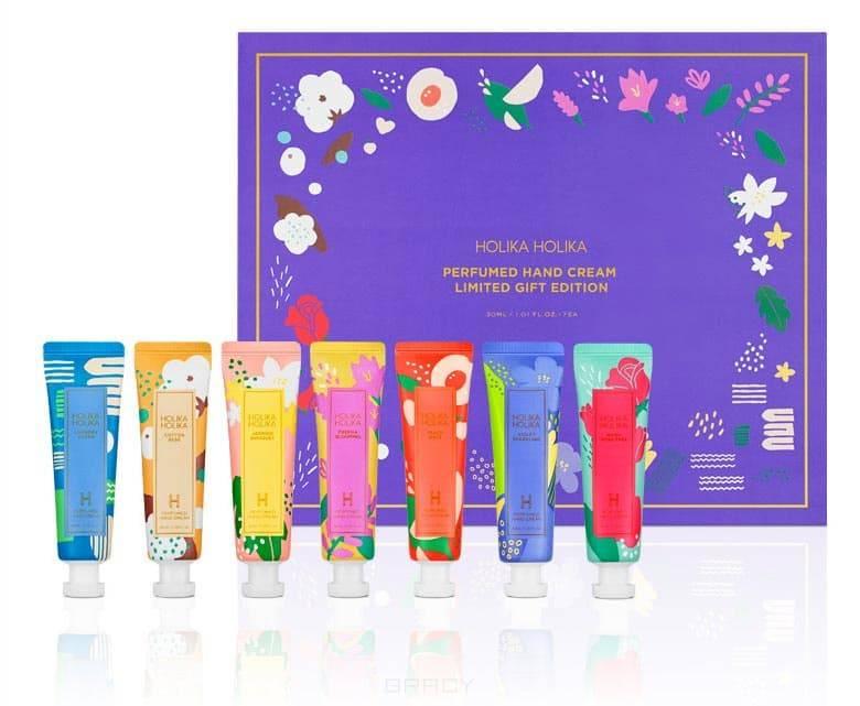 Holika , Perfumed Hand Cream Limited Gift Edition Набор питательных кремов для рук Цветочный, 30 мл*7 шт Холика