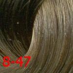 Купить Estel, De Luxe Стойкая крем-краска для волос серии Эстель Silver, 60 мл (60 оттенков) 8/47 Светло-русый медно-коричневый