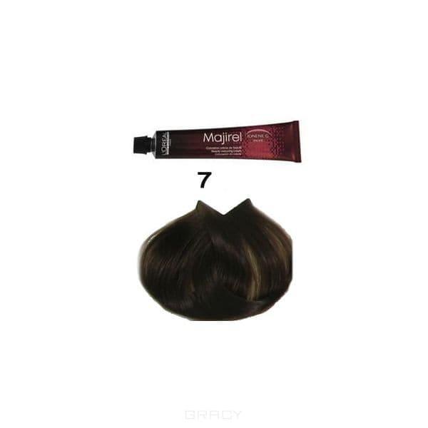 L'Oreal Professionnel, Крем-краска для волос Мажирель Majirel, 50 мл (88 оттенков) 7. блондин cocoafoal woman genuine leather pumps plus size 33 43 sexy high heels shoes shallow brown wedding pointed toe green pumps 2018