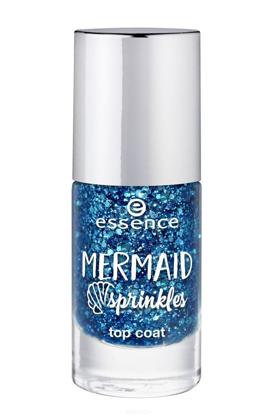 Купить Essence, Верхнее покрытие для ногтей Mermaid Sprinkles Top Coat №38 Somewhere Beyond, 8 мл