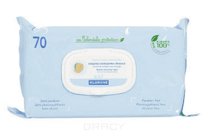 Мягкие очищающие салфетки с очищающим молочком, 70 шт