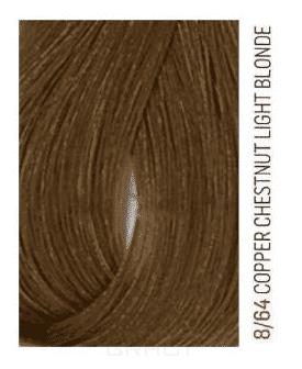 Lakme, Перманентная крем-краска для волос без аммиака Chroma, 60 мл (54 тона) 8/64 Блондин коричнево-медный фото