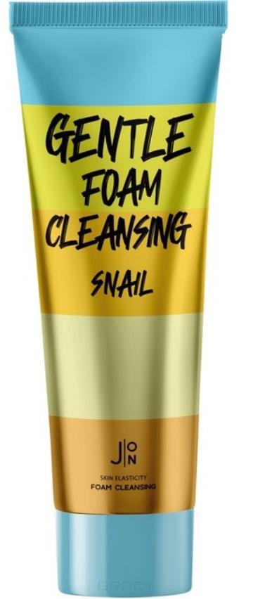 J:ON, Пенка для умывания с муцином улитки Gentle Foam Cleansing Snail, 100 мл