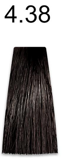 Купить Kaaral, Стойкая безаммиачная крем-краска с гидролизатами шелка Baco Soft Ammonia Free, 60 мл (42 оттенка) 4.38 золотисто-коричневый каштан