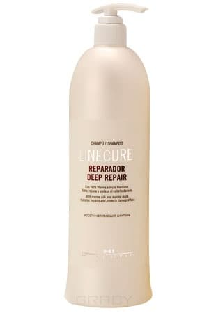 Hipertin, Шампунь восстанавливающий Linecure Deep Repair Shampoo Хипертин, 1000 мл hipertin шампунь для жирных волос linecure oily hair types shampoo хипертин 300 мл