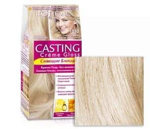 LOreal, Краска для волос Casting Creme Gloss (37 оттенков), 254 мл 10.10  Светло светло-русый пепельныйОкрашивание<br><br>