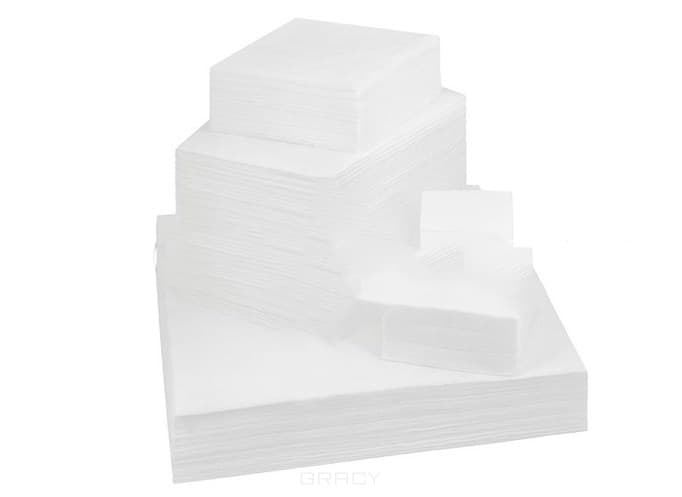 Igrobeauty, Салфетки безворсовые белые, 14г/м2, 3,8 см х 4,9 см, 500 штОдноразовые расходные материалы для косметологии<br><br>