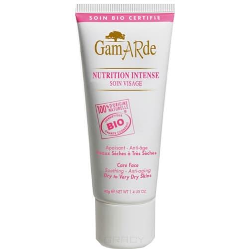 Питательный крем для лица Nutrition intense, 40 млОписание:&#13;<br> &#13;<br> Крем интенсивно увлажняет и глубоко питает кожу, моментально устраняет неприятные ощущения, зуд, покраснения и шелушение, кожа становится нежной, мягкой, ухоженной, приобретает здоровый оттенок.&#13;<br> &#13;<br> Способ применения:&#13;<br> &#13;<br> Наносить на лицо по мере необходимости легкими движениями до полного впитывания.&#13;<br> &#13;<br> Состав:&#13;<br> &#13;<br> Термальная вода Гамард, масло подсолнуха, аргании, каритэ, касторовое, пчелиный воск, белая глина, эфирные масла розового дерева, лаванды, витамин Е из растений.<br>