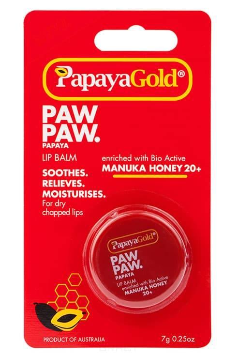 Papaya Gold, Бальзам для губ с медом Манука, 7 г papaya gold