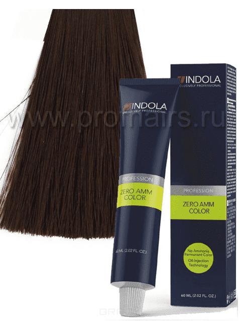 Indola, Zero Amm Стойкий краситель на масляной основе без аммиака, 60 мл (35 оттенков) 6-86 темный русый шоколадный красныйОкрашивание<br><br>
