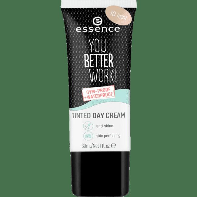 Essence, Крем для лица дневной с тонирующим эффектом You Better Work! Tinted Day Cream, 30 мл (2 оттенка), №10 Light фото