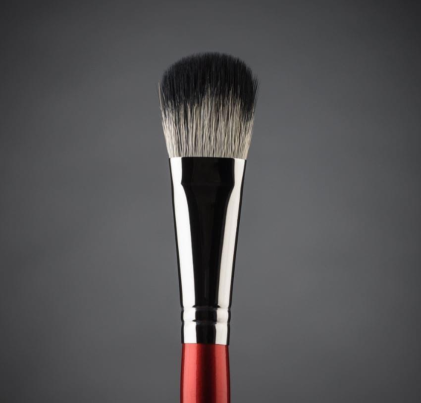 Ludovik, Кисть овальная, дуофибра для сухой коррекции и румян, коза белая, синтетика, d 15, 31w цены онлайн