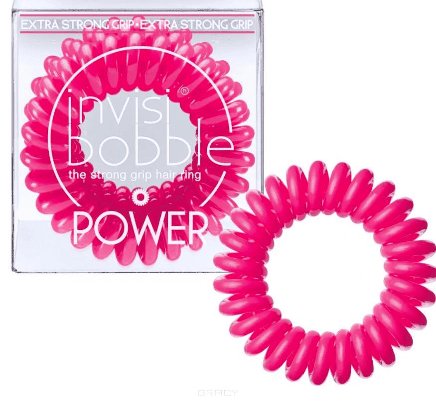 Invisibobble, Резинка для волос POWER Pinking of you розовый в упаковке с подвесом, 3 шт invisibobble резинка для волос розового цвета original pinking of you 3 шт резинка для волос розового цвета original pinking of you 3 шт 3 шт уп