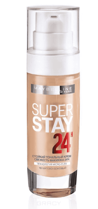 Maybelline, Тональный крем SuperStay 24ч, 30 мл (8 оттенков) 10 матово-бежевыйДл лица<br><br>