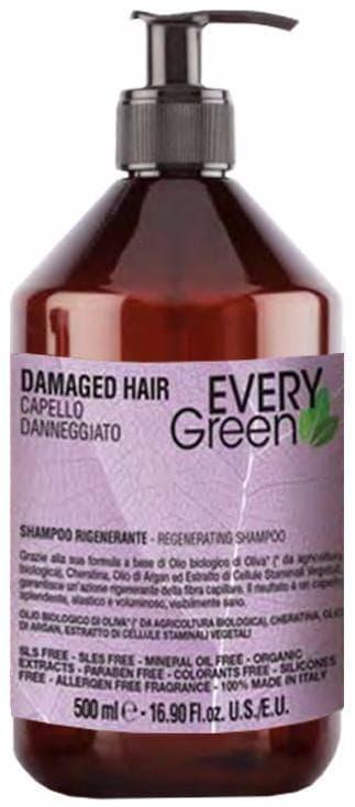 Dikson, Шампунь для поврежденных волос Everygreen Damaged Hair Shampoo Rigenerante, 500 мл шампунь llang red ginseng energizing hair shampoo 500 мл