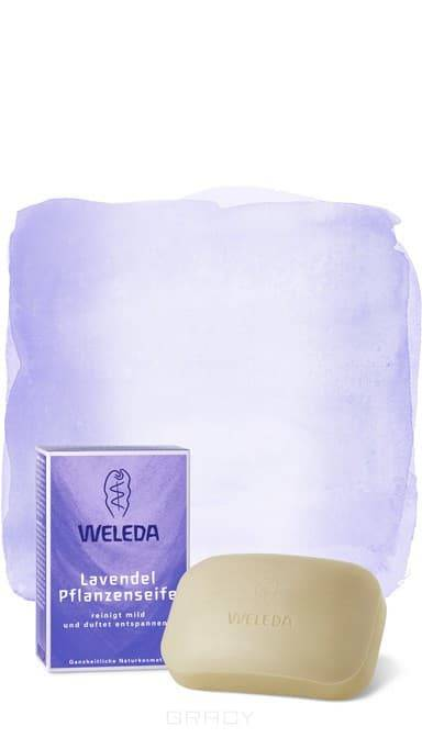 Weleda, Лавандовое растительное мыло, 100 г косметика для мамы weleda растительное мыло розмариновое 100 г