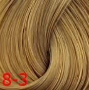 Estel, Краска для волос Princess Essex Color Cream, 60 мл (135 оттенков) 8/3 Светло-русый золотистый /янтарный estel краска для волос princess essex color cream 60 мл 135 оттенков 0 33 желтый