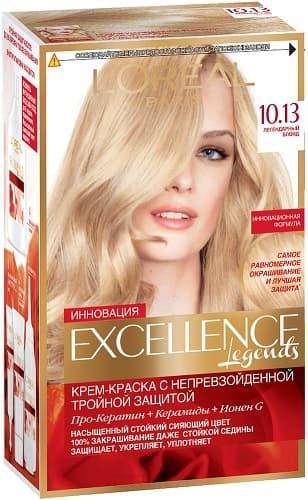 LOreal, Краска дл волос Excellence Creme (32 оттенка), 270 мл 10.13 Легендарный блондОкрашивание волос Casting, Preference, Prodigy, Excellence<br><br>