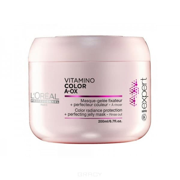 LOreal Professionnel, Маска-фиксатор цвета Serie Expert Vitamino Color AOX Masque, 200 млVitamino Color - лини дл окрашенных волос<br><br>