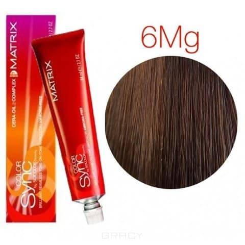 Matrix, Color Sync Краска для волос Матрикс Колор Синк (палитра 59 цветов), 90 мл 6MG темный блондин мокка золотистый краска matrix color sync 8mg светлый блондин мокка золотистый 90мл