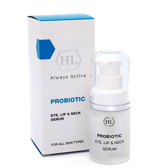 Купить Holy Land, Сыворотка-концентрат для губ, век и шеи с пробиотическим комплексом Probiotic Eye, Lip & Neck Serum, 15 мл