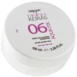 Dikson, Фиксирующий воск на водной основе Keiras Finish Aqua Fix 06, 100 мл мусс dikson finish keiras power mousse 01