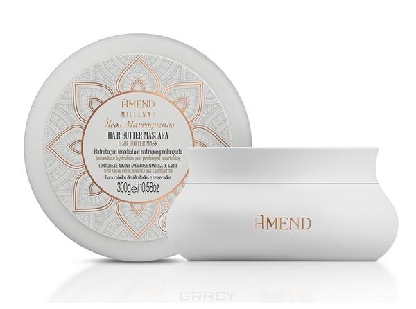 Купить Amend, Увлажняющая маска для сухих волос с марокканскими маслами Millenar Oleos Marroquinos Hair Butter Mask, 300 мл