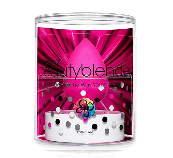 BeautyBlender, Набор косметический спонж розовый Original + мини-мыло Blendercleanser Solid MiniСпонжи дл макижа<br><br>