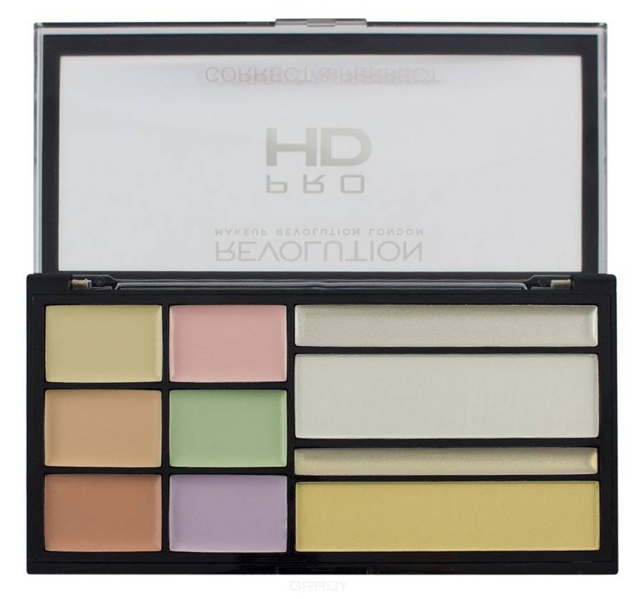MakeUp Revolution, Палетка корректоров для лица HD Correct and Perfect Palette sephora collection must have палетка пудровых корректоров для контуринга must have палетка пудровых корректоров для контуринга