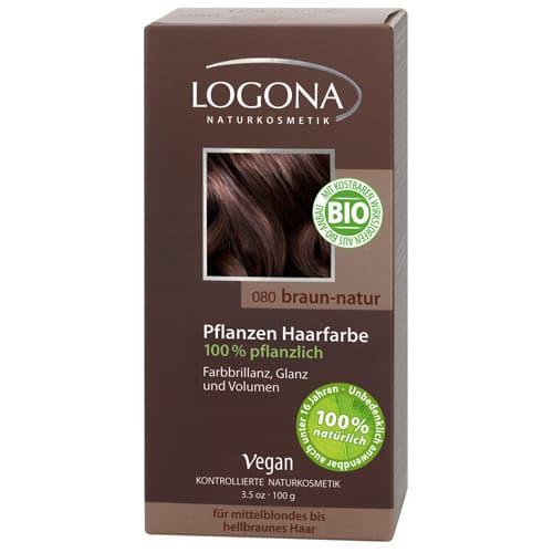 Logona, Растительная краска для волос, 100 г (8 оттенков) 080 Натурально-коричневый logona powder naturel brown краска растительная для волос тон 080 натурально коричневый 100 г