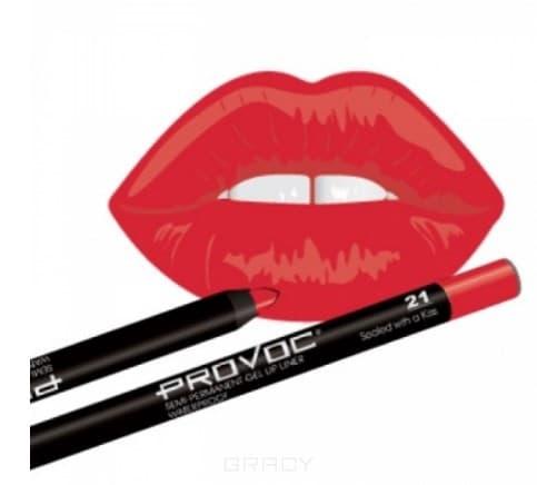 Купить Provoc, Гелевая подводка в карандаше для губ Gel Lip Liner (12 тонов) 021 Sealed with a Kiss (класcический красный)