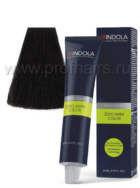 Indola, Zero Amm Стойкий краситель на масляной основе без аммиака, 60 мл (35 оттенков) 3-0 темный коричневый натуральныйОкрашивание<br><br>