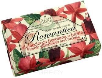 Мыло Ароматы фиезоле и фуксии Romantica, 250 гр.NESTI DANTE Romantica - это растительное мыло, обладающее ароматом фуксии и фиезоле. Оно наилучшим образом подойдет для самых восхитительных женщин и сумеет создать романтичный эмоциональный настрой. На каждом кусочке мыла вы найдете гравировку &amp;amp;quot;С любовью и заботой&amp;amp;quot; - &amp;amp;quot;With Love And Care&amp;amp;quot;, а завернуто мыло в изысканную бумагу из Флоренции, расписанную акварелью.<br>