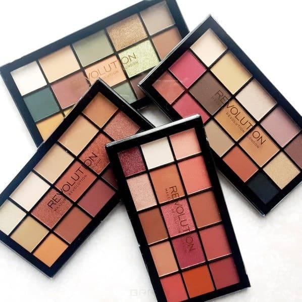 MakeUp Revolution, Палетка теней для век Re-loaded Palette, 15 оттенков (6 вариантов) Newtrals 2
