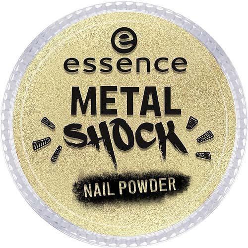 Essence, Эффектная пудра для ногтей Metal Shock Nail Powder, 9 гр (6 оттенков) №04, золотой цена