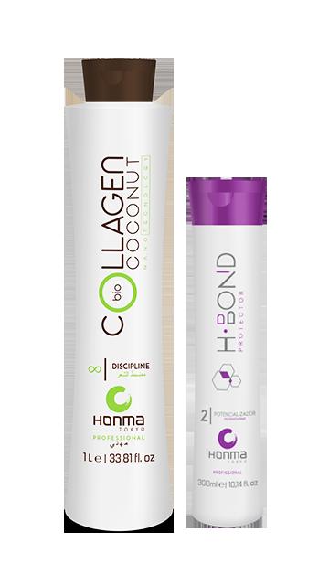 Купить Honma Tokyo, Набор для нанопластики Bio Coconut Collagen + H-Bond Protector P2, 50/50 мл