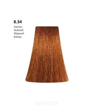 Купить BB One, Перманентная крем-краска Picasso Colour Range без аммиака (76 оттенков) 8.34Light Gold Copepr Blond/Светло-золотой Медный Блондин